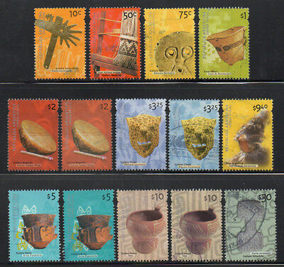 Argentina 2000-13; 14 VF Used Stamps from Archaeology Set, Cat. $65+