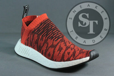 7b0ebcf3e94 Adidas Nmd Cs2 Pk Nomad City Sock 2 Primeknit By9406 Red Glitch Ds Size  12
