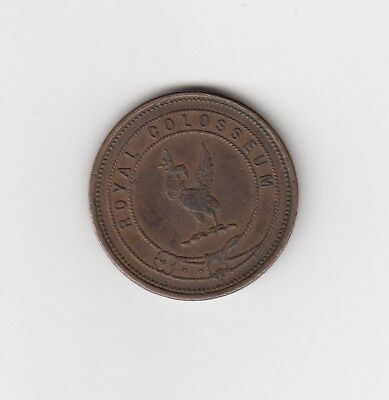Liverpool Colosseum Token Pass Bronze 31mm Excellent Condition Scarce T Heath