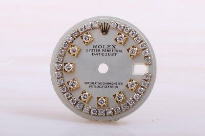 Rolex custom Datejust 26mm Silver String Dial For Models 6917, 69173 & 79173