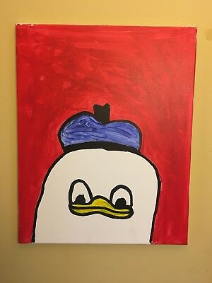 Ancient Meme Artifact Painting (Dolan Duck)