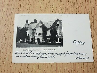 Sir Walter Raleigh's House Youghal - postcard 1905