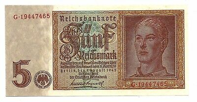 Germany (P186a) 5 Reichsmark 1942 UNC
