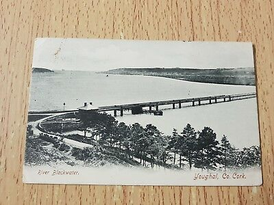 River blackwater,Youghal,co cork 1905 postcard