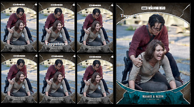 Topps The Walking Dead Card Trader TRAGEDIES MAGGIE & GLENN Blue & Gray 6x