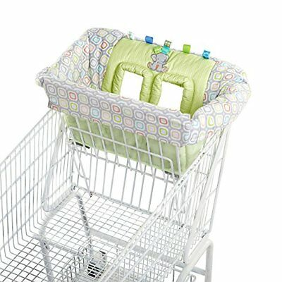NEW TAGgies BABY TAG N' GO 2 IN 1 SHOPPING CART HIGH CHAIR COVER ELEPHANT GREEN