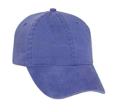 OTTO Garment Washed Pigment Dyed Cotton Twill Six Panel Low Profile Dad Hat