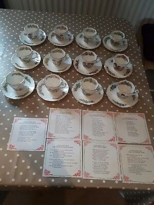 Flower Fairies tea cups & saucers set of 12 Gresham 1991