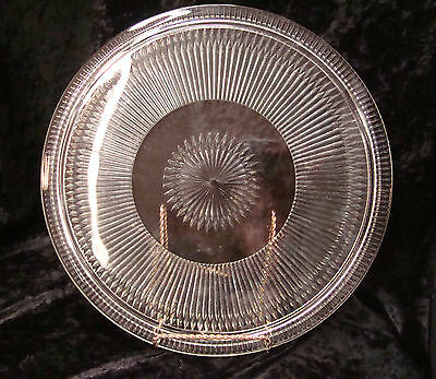 """Vintage Prism Point 3 Footed Cake Plate 12 1/2"""""""