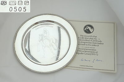 Rare Qe Ii Sterling Silver Brigadier Gerard Horse Racing Plate 1972