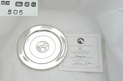 Rare Qe Ii Sterling Silver Dahlia Horse Racing Plate 1975