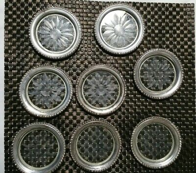 Set of 8 Vintage Matching Frank M Whiting & Co 925 Sterling Silver Coasters