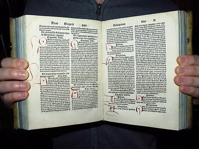 1496 Gregorius I Pope -3 INCUNABLE IN ONE VOLUME- Pigskin Binding-Scheyern copy!