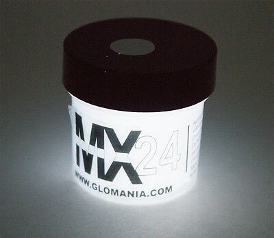 White MX24 Extreme Glow in the Dark Paint Super Bright 4oz FREE KEYRING!