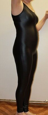 Gennady 300-00 Black Spandex Women Long Sleeveless Catsuit Size XL