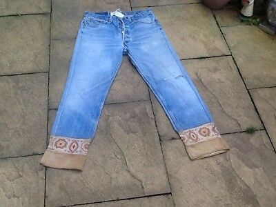 vintage Levi 501 X X jeans  hip hop urban Customised Hemline 80's