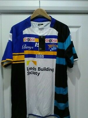 Leeds Rhinos 2015 treble jersey brand new with tags SIZE XL