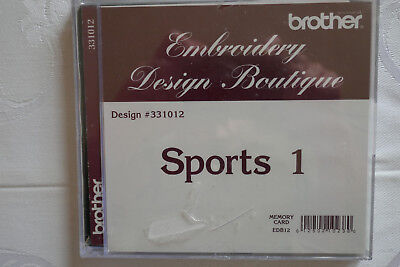 Brother Stickkarte Sports1 Embroidery Design Boutique 10 x 10 cm