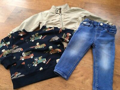 River Island Next Boys Small Bundle / Outfit 18-24Mths Top Jacket Jeans