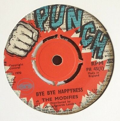 "Rare The Modifies On Punch/pama Uk 7"" Skinhead 1970"