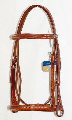 STUBBEN 1000 Wexford PADDED Browband French Cavesson Noseband Bridle HONEY TAN