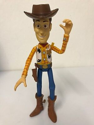"""DISNEY PIXAR TOY STORY COWBOY WOODy FIGURE TOY WITH HAT 6"""" RARE"""