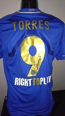 Fernando Torres Signed player issue Chelsea shirt 2013 ECF with Coa