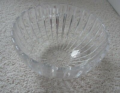 "Tiffany Crystal Bowl in Vertical Pattern (6.25"" across; 3.25"" tall)"