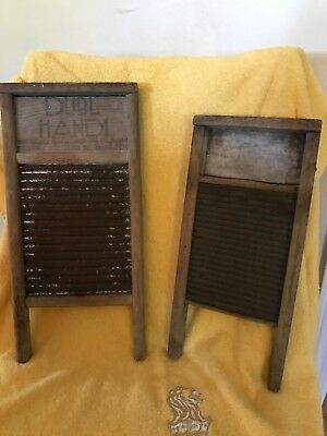 A Pair of Small Vintage National Washboards