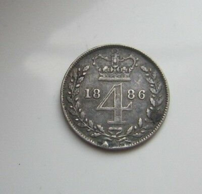 Victoria 4 Pence 1886 Maundy