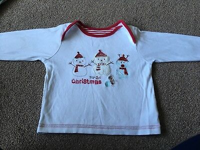 Baby 'my 1st Christmas' Long Sleeve Top 9-12 Months