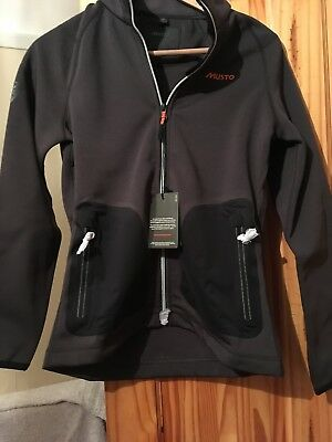 Musto DWR ZP Through Sweat Riding Jacket  In Charcoal Size 8 BNWT RRP £85!
