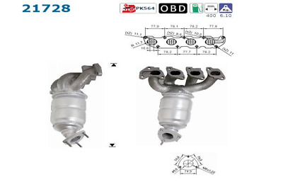 Catalytic Converter - AS 21728