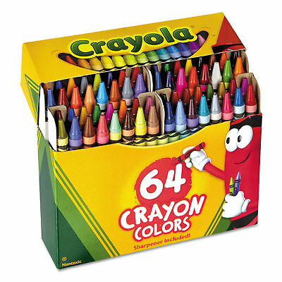 Crayola Crayons - Box of 64 Crayon Colors, Sharpener Included