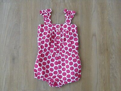 Girls Gap Pink Spotty Playsuit Age 2 Years
