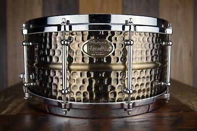 World Max 14 X 6.5 Hammered Brass Nickel Snare Drum (Pre-Loved)