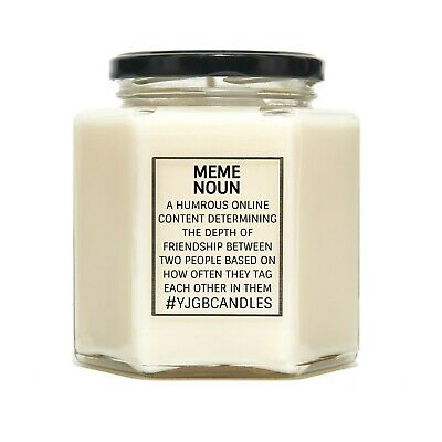 Meme Gift, Gift For Friend, Meme Addict, Candles, Candle, Meme Dictionary Gift