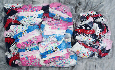 150 Pairs Girls Ankle Socks Ex-Store Cotton Rich Mixed Sizes Wholesale Job Lot