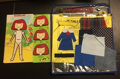 Madeline By Woodkins Wooden Doll w/ Faces & Fabrics