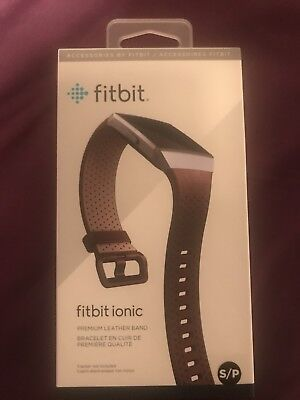 Genuine Fitbit Leather Strap For Ionic Smartwatch - Small - Cognac RRP £49.99