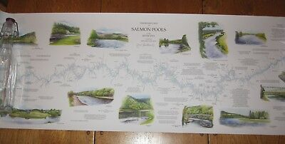 Signed Colour Map Of The River Spey By Nigel Houldsworth