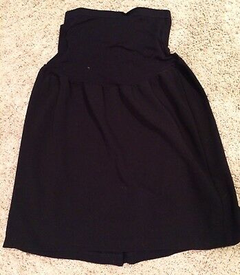 Duo maternity black pencil skirt, size large, belly band