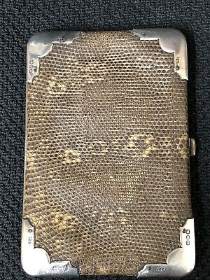 Victorian Genuine Leather Card/ Coin Case With Silver Corners