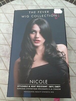The Fever Wig Collection Nicole Dark Brown Wig Used In Box.....£9.99