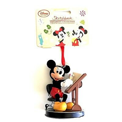 Disney Store Holiday Ornament Sketchbook 2016 Mickey Mouse Animator