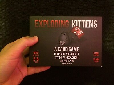 The Oatmeal Exploding Kittens NSFW Deck Card Game