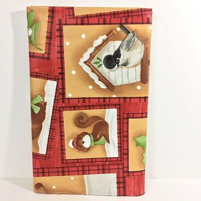 Christmas Vinyl Tablecloth Holiday Forest Friends Cottage Style Asst. Sizes