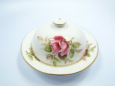 Crown Staffordshire Fine Bone China Lidded Butter Dome Muffin Dish