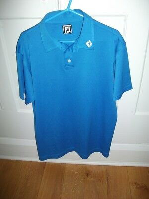 Men's Footjoy Golf Blue Polo T Shirt  - Size XL