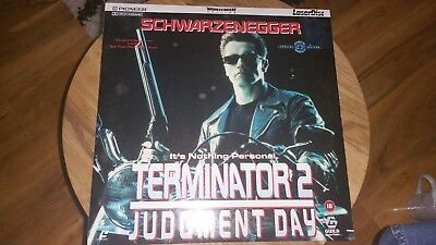 Terminator 2 Judgement Day Laserdisc PAL FREE POSTAGE